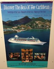 Original Royal Caribbean Travel POSTER Cruise The Islands Mega Ships