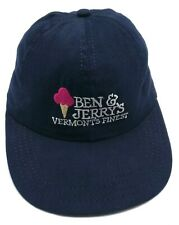 BEN & JERRY'S ICE CREAM vintage blue cap / hat - USA Made - One size fits most