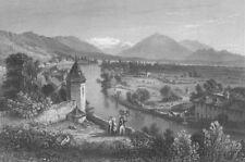 SWITZERLAND. Thun ; Finden 1833 old antique vintage print picture