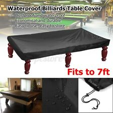 ❤ 7FT Outdoor Pool Snooker Billiard Table Cover Polyester Waterproof