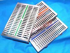 3 GERMAN Dental Sterilization Cassette Rack Tray For 20 Surgical Instruments+GBO