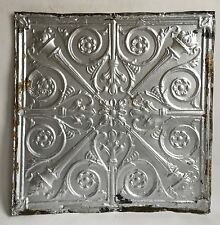 "24""x 24"" Antique Ceiling Tin Silver *See Our Salvage Videos C61a Torches"