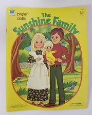 1974 The Sunshine Family Paper Dolls Book Complete And Uncut ! Whitman Book