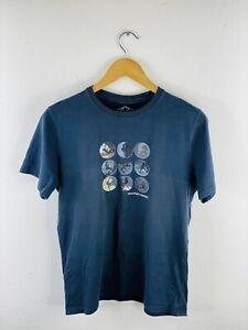 Mountain Designs Men's Short Sleeve Logo Crew Neck T Shirt Size S Blue
