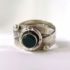 Green Onyx Sterling Silver Fine Rings