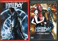 2 DVD  - HELLBOY + HELLBOY  the golden army - 2 DVD EX NOLEGGIO (1° STAMPA)