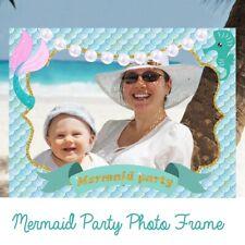 Mermaid Wedding Party Photo Booth Props Frame Birthday Baby Shower Decors Bid