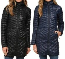 NEW THE NORTH FACE THERMOBALL HOODED PARKA Women's Black / Blue TNF Puffy Jacket