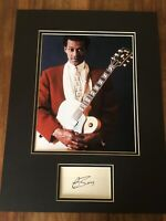 Chuck Berry Signed autographed vintage Certified 16 X12 display + COA