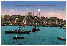 Ships, View to Mosque of Suleiman in Constantinople, Turkey, 1910s