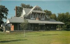 Brookfield Illinois~Grossdale Train Station~1982 Postcard