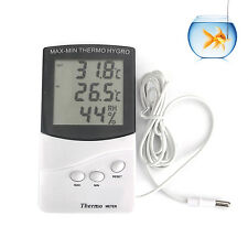 NEW Digital LCD Humidity Hygrometer Temperature Thermometer Indoor Outdoor UK