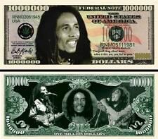 Bob Marley Million Dollar Bill Collectible Fake Play Funny Money Novelty Note