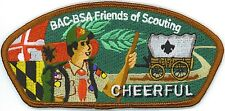 BALTIMORE AREA COUNCIL CHEERFUL FOS STRIP CSP PATCH BOY SCOUT ORDER  ARROW