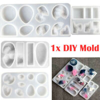 DIY Craft Jewelry Making Silicone Mold Transparent Pendant Casting Molds