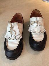 J.M. WESTON GOLF TwoTone Shoes CHAUSSURES BICOLORE -3.5 D (T. 35)France Leather