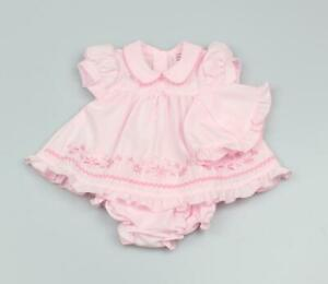 Baby girls clothes Spanish style 3 piece bow dress set newborn 0-3 3-6 months