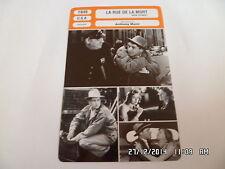 CARTE FICHE CINEMA 1949 LA RUE DE LA MORT Farley Granger Cathy O'Donnell J Craig