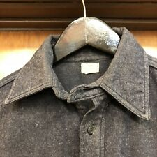 """VINTAGE 1930'S """"ABERCROMBIE & FITCH"""" CHINSTRAP PULLOVER WORKWEAR SHIRT - RARE"""