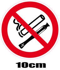 1 autocollant mixte INTERDIT DE FUMER et de VAPOTER interdiction de10 cm