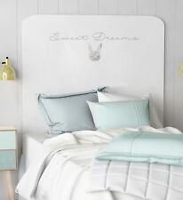 Cabezal infantil decorado conejito color blanco dormitorio juvenil 110x90 cm