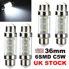 4x 36mm 6 LED Xenon White Car Festoon Interior Dome C5W Number Plate Light Bulbs