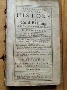 History of COLD-BATHING 1722 - John Floyer - 18th Booklet  COLD WATER BATHING