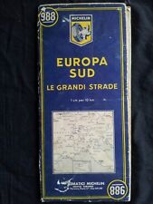 Carte Michelin N° 988 Europe sud 1956 Grandes routes 195 F