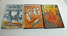 Pride FC Fighting Championships Lot of 3 DVDs Mixed Martial Arts Bushido