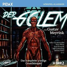 Der Golem * CD 3-teiliges Gruselhörspiel von Gustav Meyrink Pidax MP3-CD Neu