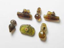 Zurqieh - Vs17- Roman Egypt , Lot Of 6 Glass Beads & Pendants , 300 - 400 A.D