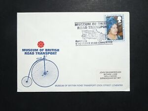 SPO GB Motor Sport Museum  of British Transport stamp cover dated Oct 1980