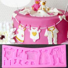 Baby Clothes Silicone Fondant Cake Mould Mold Chocolate Baking Sugarcraft Decor