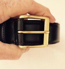 """Men's COACH #5963 Size 42 Dark Brown Leather Belt 1 1/8"""" wide"""