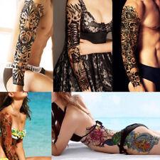 1Stk Wasserdicht Blumen temporäre Tätowierung Körper Schädel-Aufkleber Tattoo