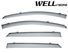 For 07-12 KIA Rondo WellVisors Side Window Visors W/ Black Trim
