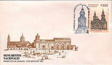 Chile 1991 FDC Monumentos Nacionales Catedral de Santiago