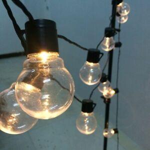 LED Globe Fairy String Light Christmas Garland Street Wedding Bulb Outdoor Party