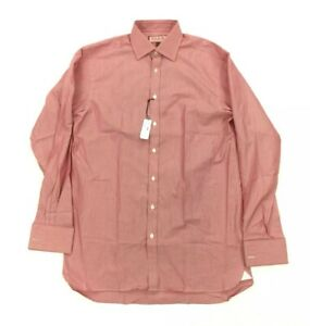 NEW Thomas Pink Murphy Striped Red White Mens French Cuff Dress Shirt 15 1/2-36