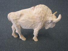 "Bison Hand Carved Animal Figurine - Poland - 5-1/2"" Tall"