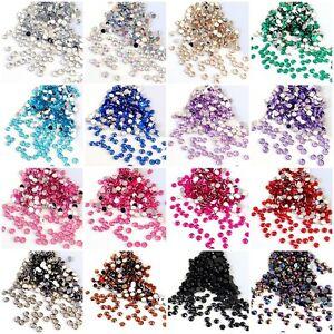 Rhinestone Gems 2mm or 4mm 16 COLOURS Nail Art Diamantes Crafts Xmas Cardmaking