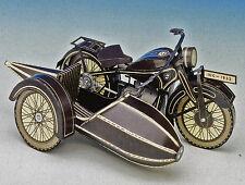 BMW R 16 Motorrad mit Seitenwagen 1:10 Silberdruck Bastelbogen Reprint von 1932
