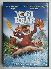 Yogi Bear (DVD, 2011) Dan Aykroyd, Justin Timberlake, Anna Faris (Used) Region 1