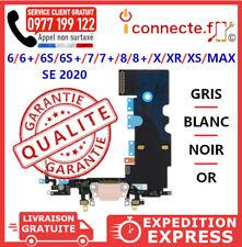 NAPPE CONNECTEUR DE CHARGE + JACK MICRO IPHONE/6/8 7/6S/PLUS X/XR/XS/MAX SE 2020