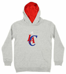 Adidas NBA Youth Boys Los Angeles Clippers Prime Pullover Hoodie, Gray
