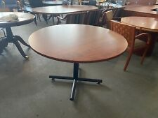 48 Round Conference Table In Cherry Laminate Top Amp Black Metal Base