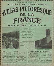 Y9590 Atlas Pittoresque de la France - Pubblicità d'epoca - 1909 Old advertising