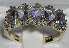 Tanzanite Oval Yellow Gold Fine Gemstone Rings