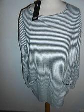 110 80 SIGNAL Camiseta De Mujer Camisa Larga Túnica gris negro Talla S+ETIQUETA