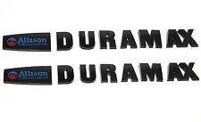 2 New Matte Black Duramax Diesel Allison LML Style 2500HD 3500HD Badges Emblems